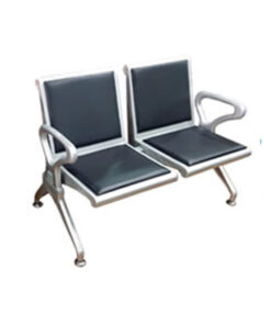 TWO SEATER AIRPORT CHAIR WITH SPONGE CUSHION 50CM 2 800x800