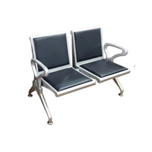 TWO SEATER AIRPORT CHAIR WITH SPONGE CUSHION 50CM 2