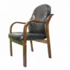 WOODEN ARM EXECUTIVE VISITOR CHAIR007