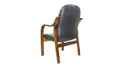 WOODEN ARM EXECUTIVE VISITOR CHAIR009
